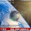1/24 Sputnik-1 satellite scale model kit.