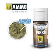 ACRYLIC WASH Brown Wash for Dark Yellow