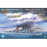 1/700 SMS Derfflinger 1916 & SMS Luetzow 1916  & Zeppelin Q Class (Limited Edition)