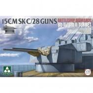 1/35 15 CMSK C/28 GUNS BATTLESHIP BISMARCK Bb II / Stb II Turret