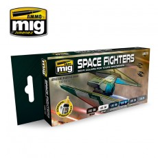 SPACE FIGHTERS COLORES CIENCIA FICCIÓN
