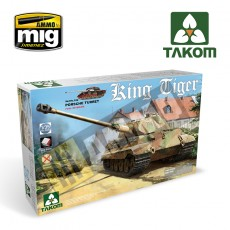 1/35 WWII German King Tiger Porsche Turret  con interior [sin Zimmerit]