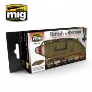 WW I BRITISH & GERMAN COLORS