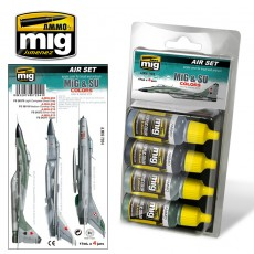 MiG & SU COLORS  Grey & Green Fighters