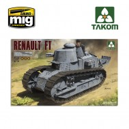 1/16  FRENCH LIGHT TANK RENAULT FT-17 (3 in 1)