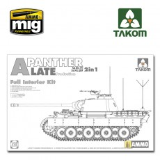 1/35 WWII German  Tank  Sd.Kfz.171/267 Panther A late production w/ full interior kit 2 in 1