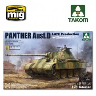 1/35 WWII German Tank  Sd.Kfz.171 Panther  Ausf.D  Late production w/ Zimmerit/ full interior kit