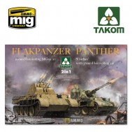 "1/35 Flakpanzer Panther ""Coelian"" with 37mm Flakzwilling 341 & 20mm flakvierling mg151/20 2 in 1"