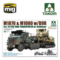 1/72 U.S.  M1070&M1000 w/D9R 70 Ton Tank Transporter w/Bulldozer