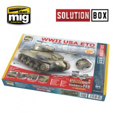 WW II AMERICAN ETO SOLUTION BOX