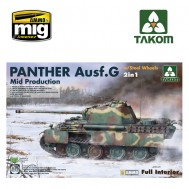 1/35  WWII German medium Tank   Panther Ausf.G  Mid  production w/ Steel Wheels 2 in 1