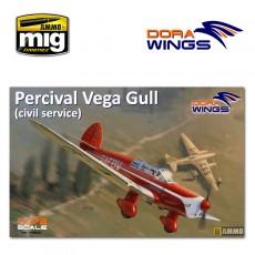 1/72 Percival Vega Gull (civil registration)