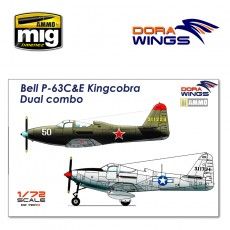 1/72 Bell P-63C&E Kingcobra Dual combo (2 in 1)