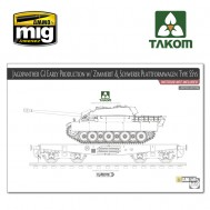 1/35 Jagdpanther G1 early w/ Zimmerit & Schwerer Plattformwagen Type SSys (interior not included)