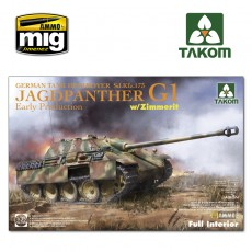 1/35 Jagdpanther G1 early  German Tank Destroyer Sd.Kfz.173  w/ Zimmerit / full interior kit