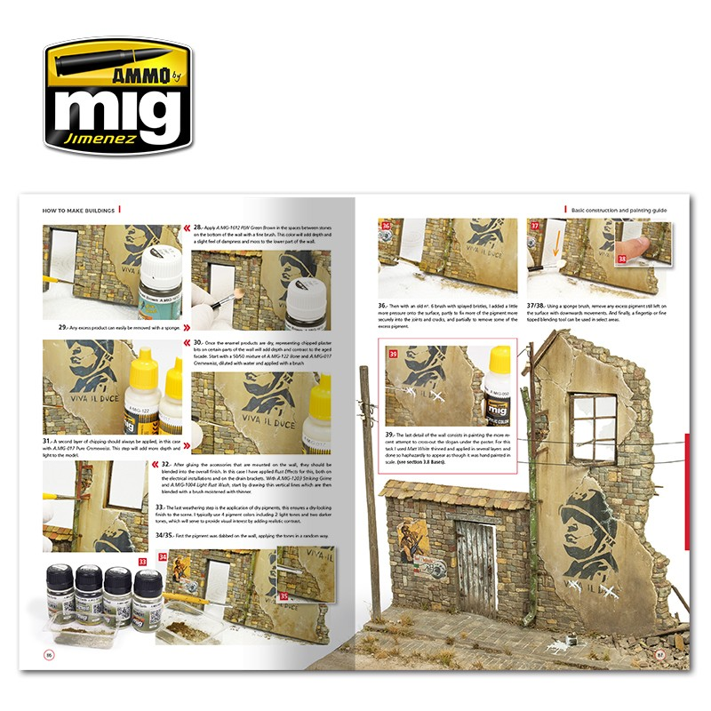 HOW TO MAKE BUILDINGS  BASIC CONSTRUCTION AND PAINTING GUIDE (English) -  AMMO by Mig Jimenez