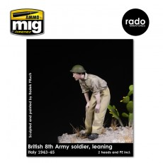 1/35 British 8th Army soldier leaning, 1943-45