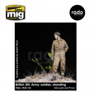 1/35 British 8th Army soldier standing, 1943-45