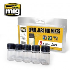 SPARE JARS FOR MIXES (5 x 35 ml jars)