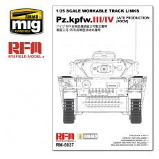 1/35 WORKABLE TRACK LINKS SET FOR PZ.III/IV.LATE PRODUCTION (40CM)