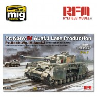 1/35 PZ.KPFW.IV AUSF.J LATE PRODUCTION /PZ.BEOB.WG.IV AUSF.J 2 IN 1 W/WORKABLE TRACK LINKS