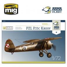 """1/72 PZL P.11c """"Kresy"""" Model Kit"""
