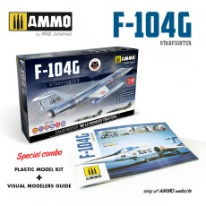 COMBO F-104G STARFIGHTER: Plastic Model Kit + Visual Guide Book