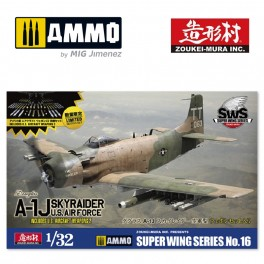 1 Zoukei-Mura 1//32 US Air Force A-1J Skyraider w// Weapons Super Wings Series No