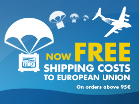 FREE SHIPPING COSTS TO EUROPEAN UNION COUNTRIES on orders above 95€!