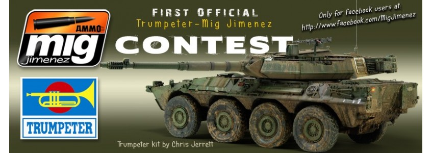 FIRST INTERNATIONAL TRUMPETER-AMMO OF MIG JIMENEZ CONTEST IN FACEBOOK